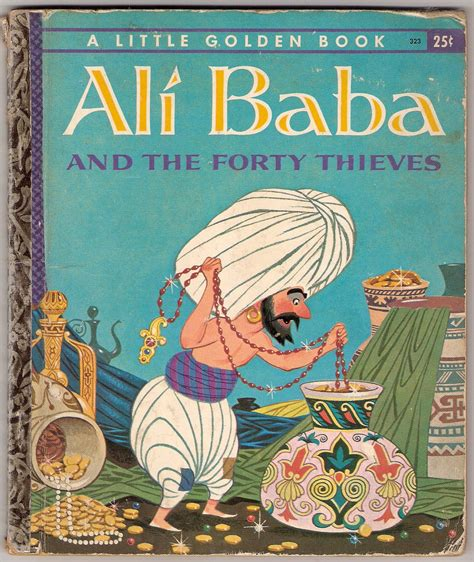 Alibaba Book | ali baba and the forty thieves vintage little golden book