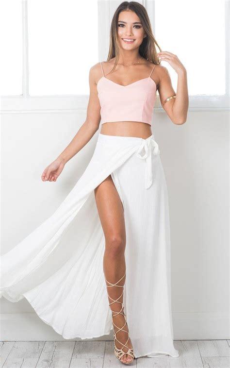Toner Mbl Maxi White a leg maxi skirt in white showpo
