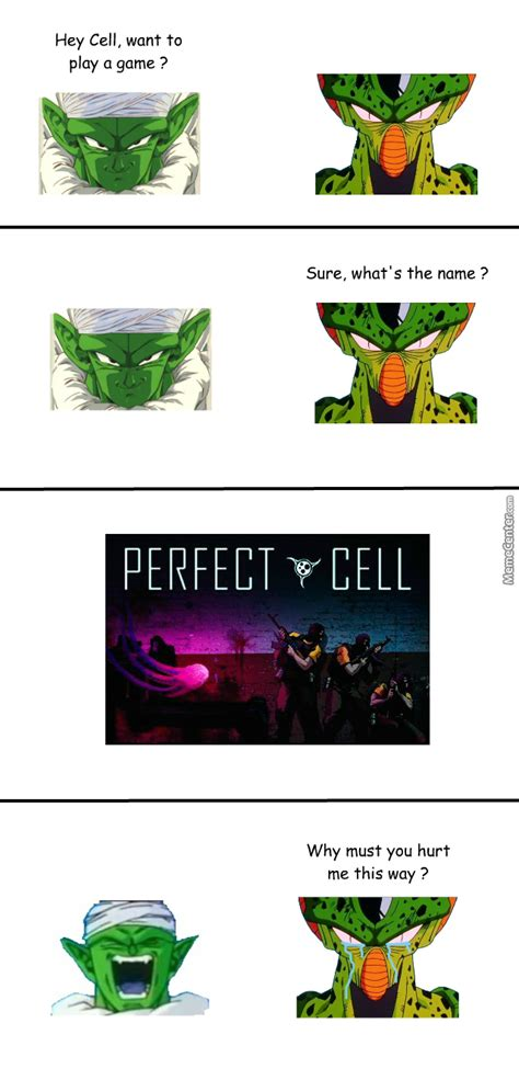 Perfect Cell Meme - super mega ultra legendary perfect golden final form cell