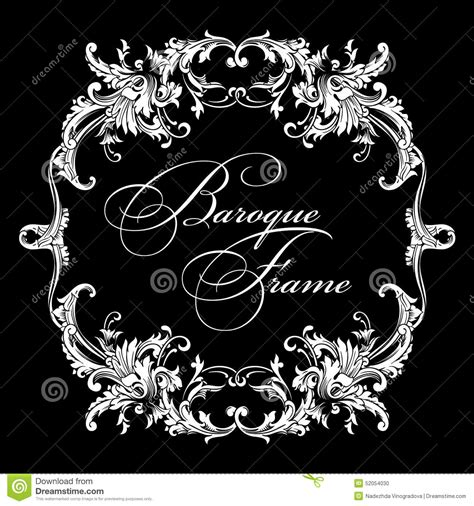 decorative baroque design elements vector vector ornamental frame baroque pattern stock vector