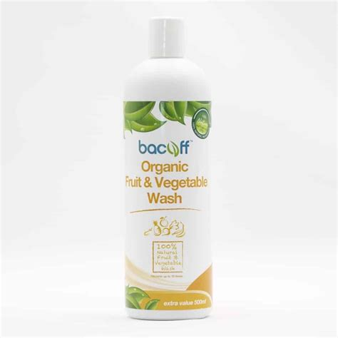 fruit and vegetable wash bacoff fruits and vegetable wash