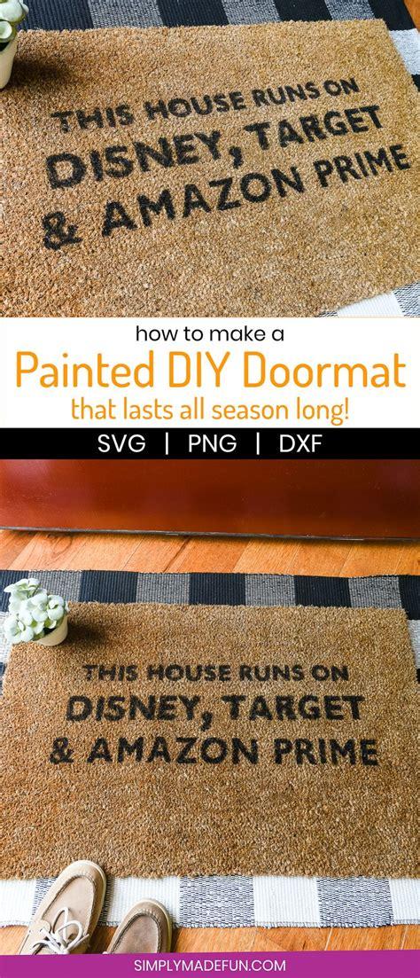 hand painted doormat tutorial funny