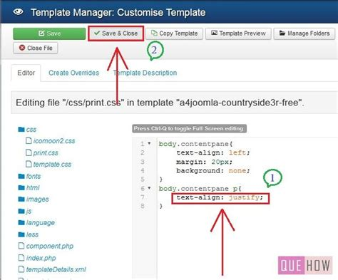 how to edit template css in joomla 3 x 6 steps with
