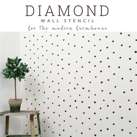 diamond pattern wall stencil black and white diamond pattern accent wall for the farmhouse
