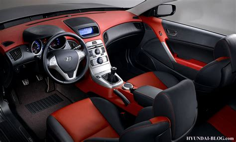 official interior images of the 2010 hyundai genesis coupe