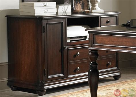 kingston plantation home office desk credenza set
