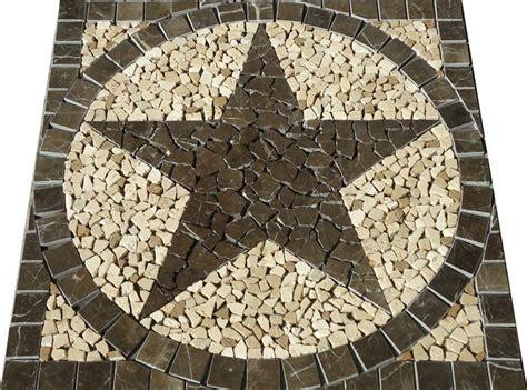 24 quot texas star in backsplash of outdoor kitchen texas 30 sq texas star mosaic marble medallion tile floor wall