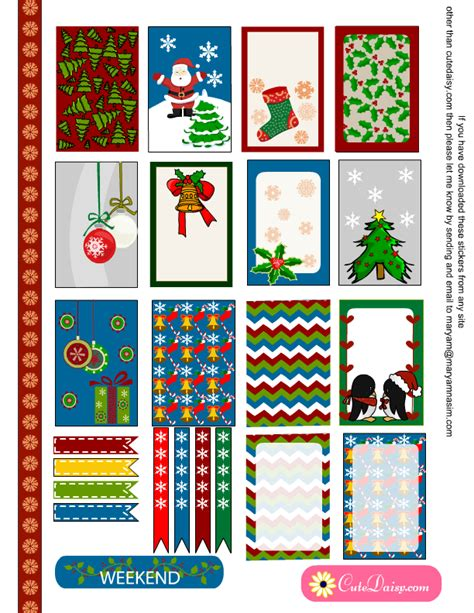 printable planner holiday stickers free printable christmas sticker sler kit