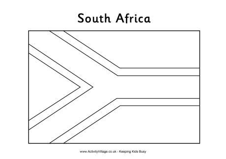 south african flag colouring page school ideas