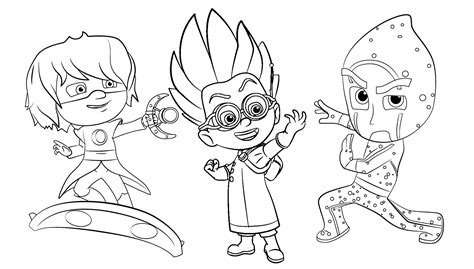 pj masks romeo coloring page pj masks romeo night ninja and luna girl are together