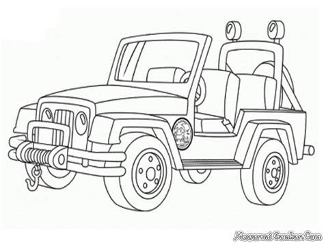 gambar mobil untuk diwarnai anak tk