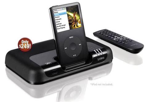 Creative X Fi I600 Now Ipod Compatible by Cambridge Soundworks Movieworks Hd X Fi Ipod Dock Slashgear