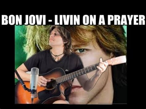 bon jovi livin on a prayer bon jovi livin on a prayer guitar percussion cover