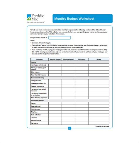 hud budget worksheet wiildcreative
