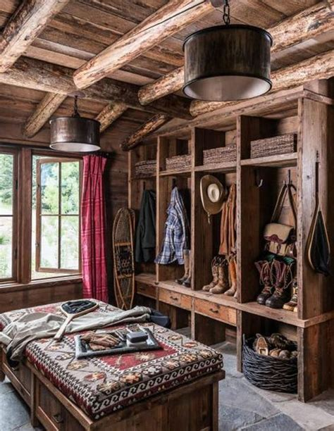 log cabin lets make this house into a home pinterest western rustic cabin mud room make mine rustic