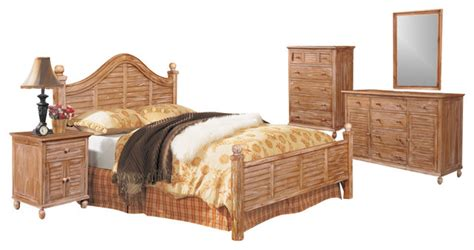 Rattan King Bedroom Set by Tortuga Tropical 5 Wooden Bedroom Set Tropical
