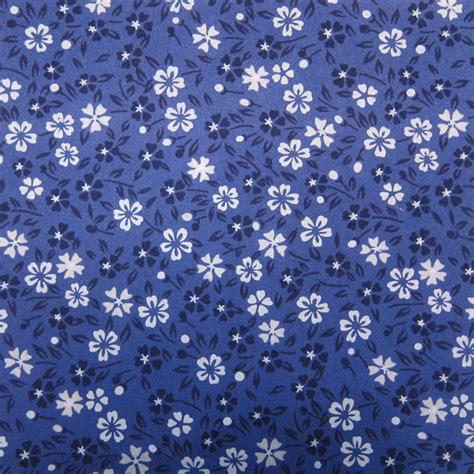 Origami Papaer - blue flowered washi origami paper 2018