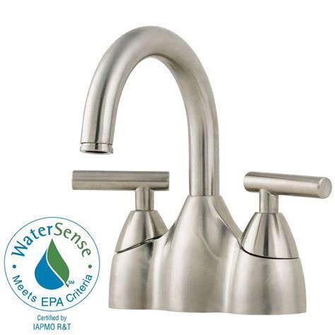 Home Depot Pfister Faucet by Pfister Contempra 4 In Centerset 2 Handle Bathroom Faucet