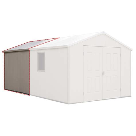 shop royal outdoor products 7ft asheville storage building