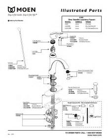 moen single handle kitchen faucet parts diagram moen plumbing product 6400 user s guide manualsonline