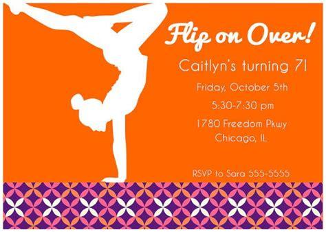 printable gymnastics invitation girls mod gymnastics printable invitation pick by