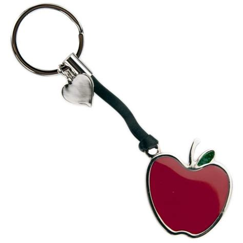 apple keychain red apple keychain with strap
