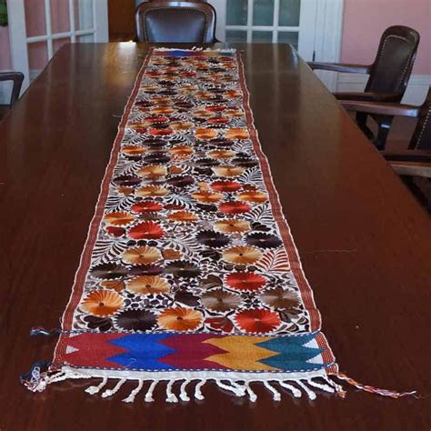 guatemalan handcrafts wide table runner 100