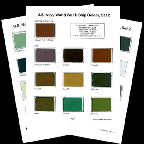 us navy colors us navy world war ii ship colors set 2 review