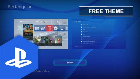themes ps4 uk ps4 us uk rectangular dynamic theme youtube