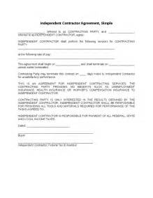 simple contractor agreement template independent contractor agreement simple hashdoc