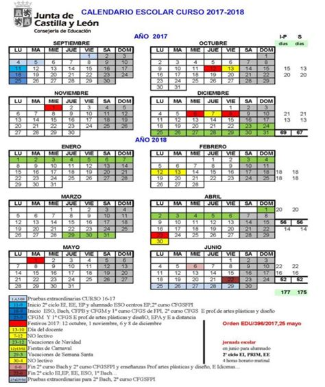 Calendario Escolar Castilla Y 2016 17 Calendario 2016 17 Jcyl Ceip Quot San Jos 201 De