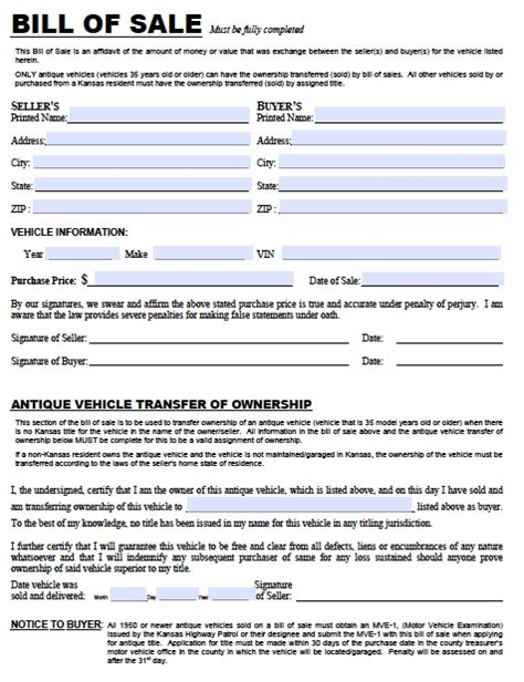 motor vehicle bill sale form bill of sale form free bill of sale