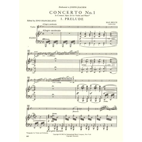 0014117541 piano concerto no g minor bruch max concerto no 1 in g minor op 26 for violin