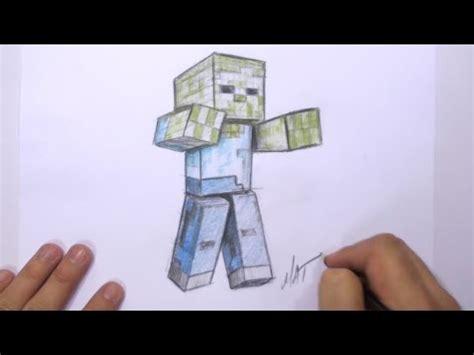 zombie zeichnen tutorial how to draw a 3d minecraft zombie mat zeichnen lernen