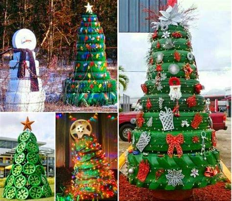 how to make christmas tree from tires pictures photos