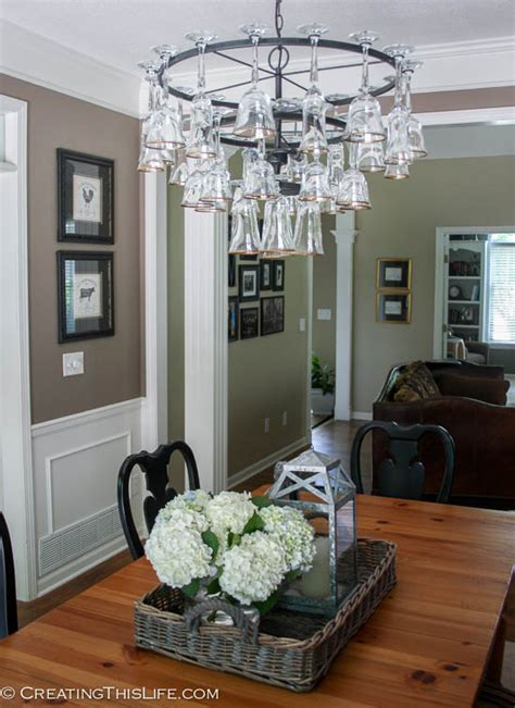 Dining Room Into Living Room Wine Glass Chandelier Creating This
