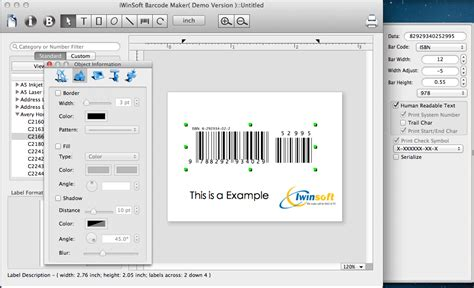 Software Barcode For Mac iwinsoft barcode maker for mac trial for free 49 95 to buy