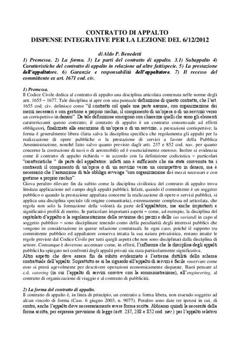 dispense di inglese pdf pdf il contratto di appalto dispense aldo pierluigi