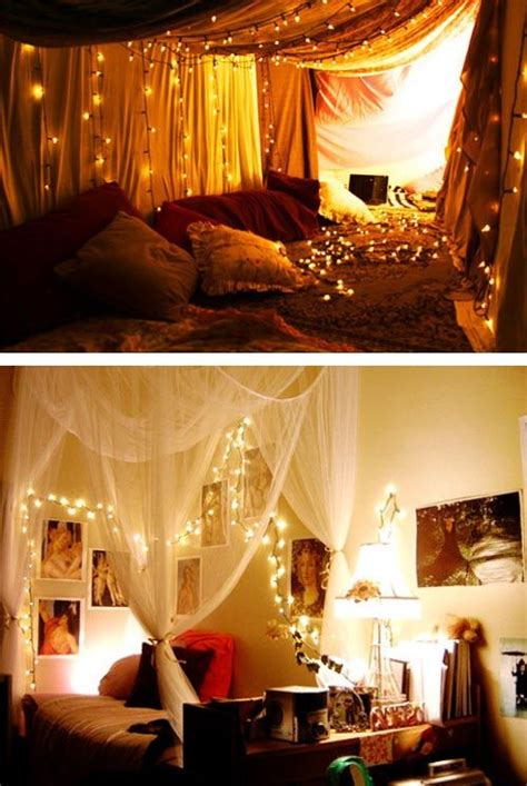 Decorating With String Lights Bedroom by 1000 Ideas About Lights Bedroom On