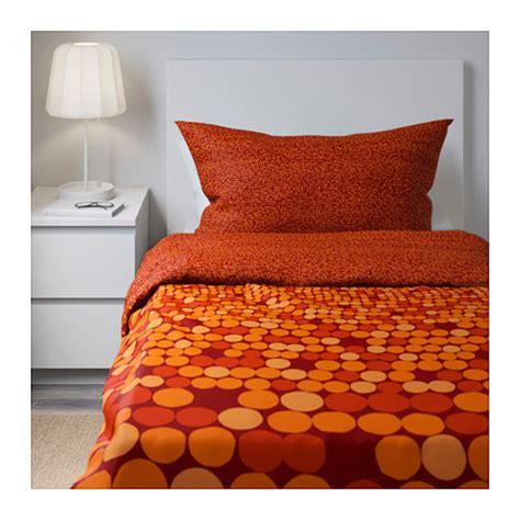 Machine Washable Duvet Ikea Smorboll Orange Twin Duvet Cover Pillowcase Set