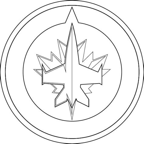 coloring pages winnipeg jets logo outline cliparts co