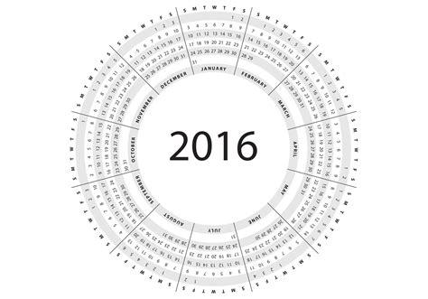 Calendario Circular Gris Calendario Circular 2016 Vector Descargue Arte