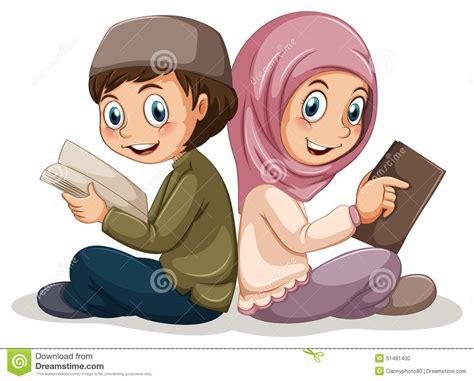 a muslim boy books muslim stock vector image of gesture feeling
