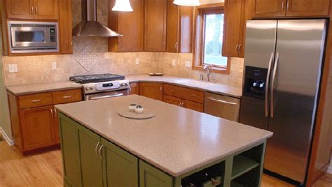 Painting Corian Countertops Cherry With Custom Color Painted Island And Corian Countertops