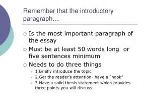 Essay Writing Introduction Paragraph by How To Write An Introductory Paragraph