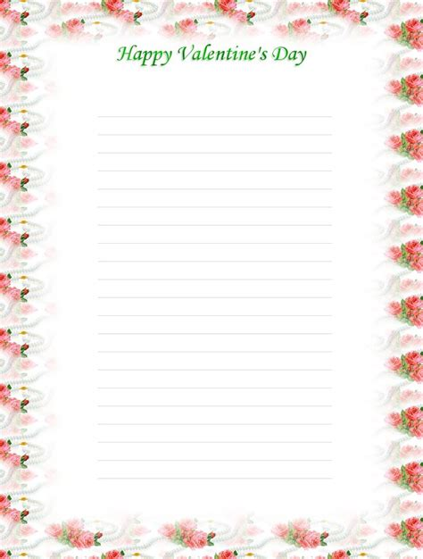 printable lined valentines paper 105 best images about valentines stationery on pinterest