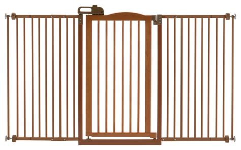 Tall One Touch Wide Pet Gate II   Contemporary   Dog Gates