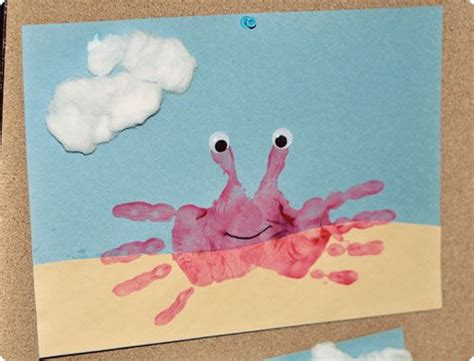 printable art activities for toddlers handprint crabs these turned out ridiculously cute