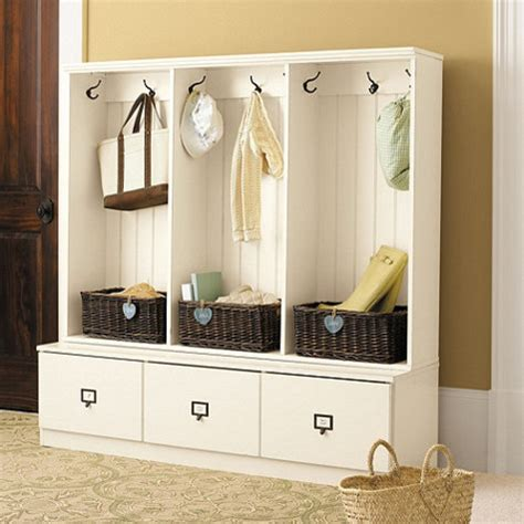 entryway organization beadboard entryway cabinet set of 3 traditional hall