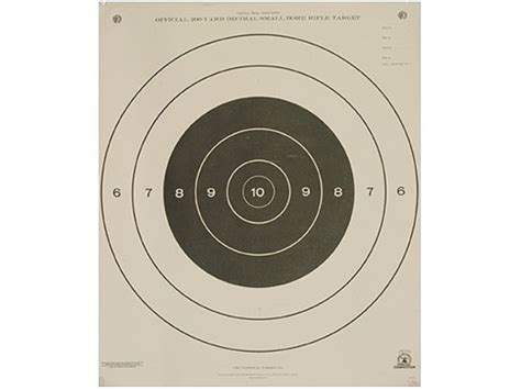 printable 200 yard rifle targets nra official smallbore rifle targets a 21 200 yard prone
